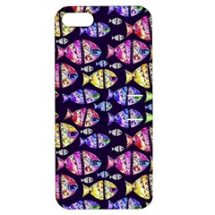 Colorful Fishes Pattern Design Apple iPhone 5 Hardshell Case with Stand