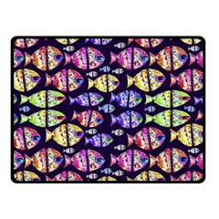 Colorful Fishes Pattern Design Double Sided Fleece Blanket (small)