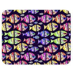 Colorful Fishes Pattern Design Double Sided Flano Blanket (medium)