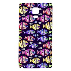 Colorful Fishes Pattern Design Galaxy Note 4 Back Case