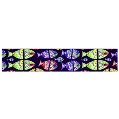 Colorful Fishes Pattern Design Flano Scarf (Small)