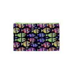 Colorful Fishes Pattern Design Cosmetic Bag (XS)