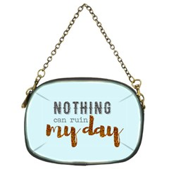 Nothing Can Ruin My Day Glitter Chain Purse (two Sided)