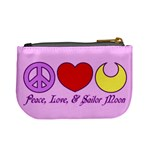 Peace, Love, and Sailor Moon Coin Change Purse Back