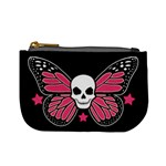 Monarch Skull: Pink Version Coin Change Purse Front
