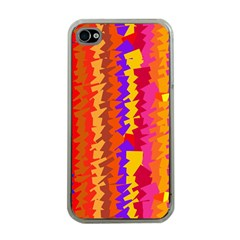 Colorful pieces Apple iPhone 4 Case (Clear)
