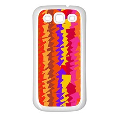 Colorful pieces Samsung Galaxy S3 Back Case (White)