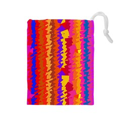 Colorful pieces Drawstring Pouch