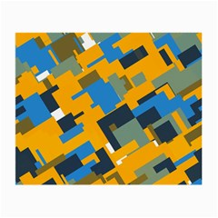 Blue yellow shapes Small Glasses Cloth