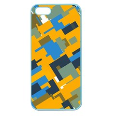 Blue yellow shapes Apple Seamless iPhone 5 Case (Color)