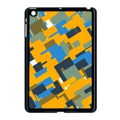 Blue yellow shapes Apple iPad Mini Case (Black)
