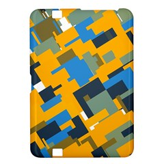 Blue yellow shapes Kindle Fire HD 8.9  Hardshell Case