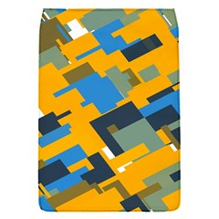 Blue yellow shapes Removable Flap Cover (S)