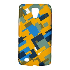 Blue yellow shapes Samsung Galaxy S4 Active (I9295) Hardshell Case