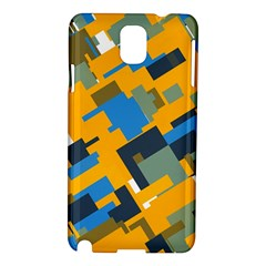 Blue yellow shapes Samsung Galaxy Note 3 N9005 Hardshell Case