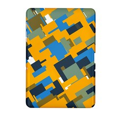 Blue yellow shapes Samsung Galaxy Tab 2 (10.1 ) P5100 Hardshell Case