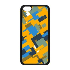 Blue yellow shapes Apple iPhone 5C Seamless Case (Black)