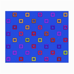 3d squares on a blue background Small Glasses Cloth (2 Sides)
