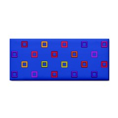 3d Squares On A Blue Background Hand Towel