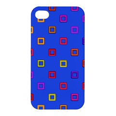 3d squares on a blue background Apple iPhone 4/4S Premium Hardshell Case