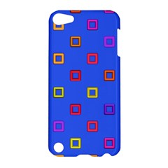 3d squares on a blue background Apple iPod Touch 5 Hardshell Case