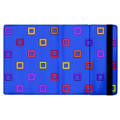 3d squares on a blue background Apple iPad 2 Flip Case