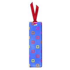 3d squares on a blue background Small Book Mark