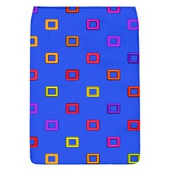 3d squares on a blue background Removable Flap Cover (S)