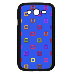 3d squares on a blue background Samsung Galaxy Grand DUOS I9082 Case (Black)