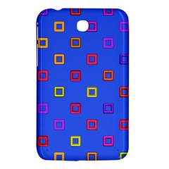 3d squares on a blue background Samsung Galaxy Tab 3 (7 ) P3200 Hardshell Case
