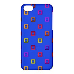 3d squares on a blue background Apple iPhone 5C Hardshell Case