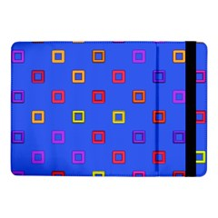 3d Squares On A Blue Backgroundsamsung Galaxy Tab Pro 10 1  Flip Case