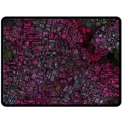 Fantasy City Maps 1 Double Sided Fleece Blanket (large)