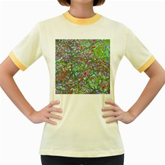 Fantasy City Maps 2 Women s Fitted Ringer T Shirts