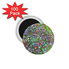Fantasy City Maps 2 1.75  Magnets (100 pack)