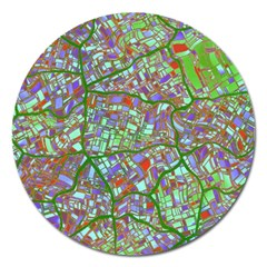Fantasy City Maps 2 Magnet 5  (Round)