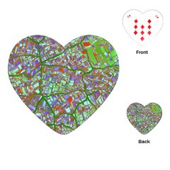 Fantasy City Maps 2 Playing Cards (heart)