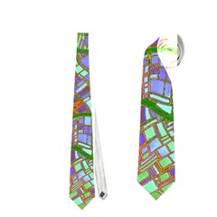 Fantasy City Maps 2 Neckties (One Side)