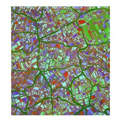 Fantasy City Maps 2 Shower Curtain 66  X 72  (large)