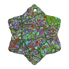 Fantasy City Maps 2 Ornament (snowflake)