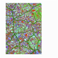 Fantasy City Maps 2 Large Garden Flag (two Sides)