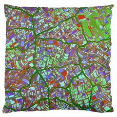 Fantasy City Maps 2 Large Cushion Cases (One Side)