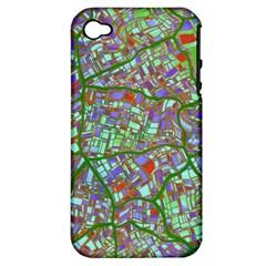 Fantasy City Maps 2 Apple iPhone 4/4S Hardshell Case (PC+Silicone)