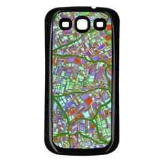 Fantasy City Maps 2 Samsung Galaxy S3 Back Case (Black)