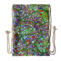 Fantasy City Maps 2 Drawstring Bag (Large)