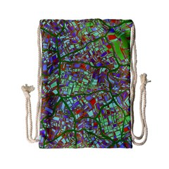 Fantasy City Maps 2 Drawstring Bag (Small)