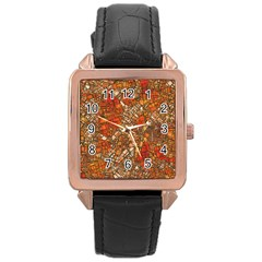 Fantasy City Maps 3 Rose Gold Watches