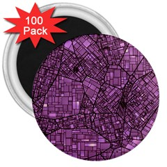 Fantasy City Maps 4 3  Magnets (100 pack)