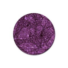 Fantasy City Maps 4 Rubber Coaster (Round)
