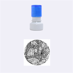 Fantasy City Maps 4 Rubber Round Stamps (small)